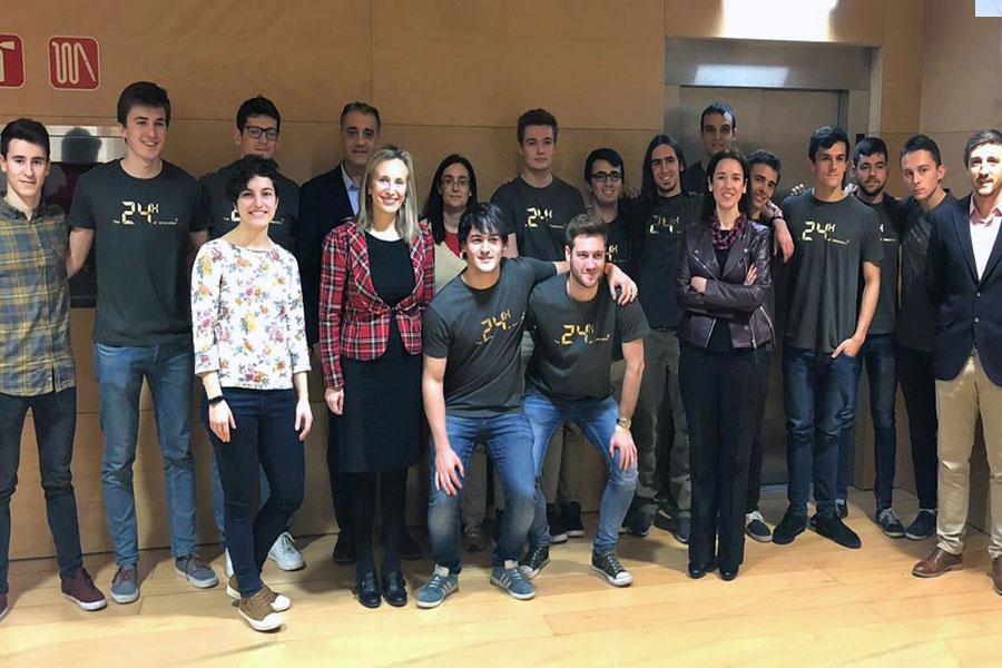 CITI Navarra patrocina la participación de un grupo de estudiantes de la UPNA en el evento '24 horas de innovación'